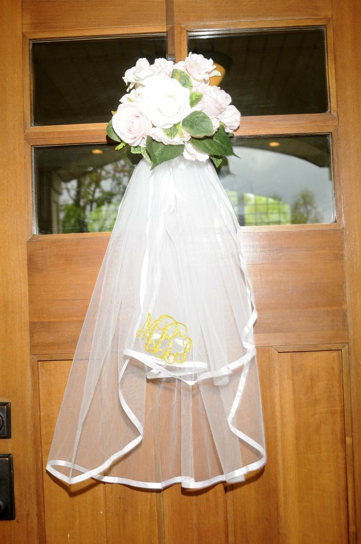 Front Door Bridal Veil Decoration This Was A Fun Idea We