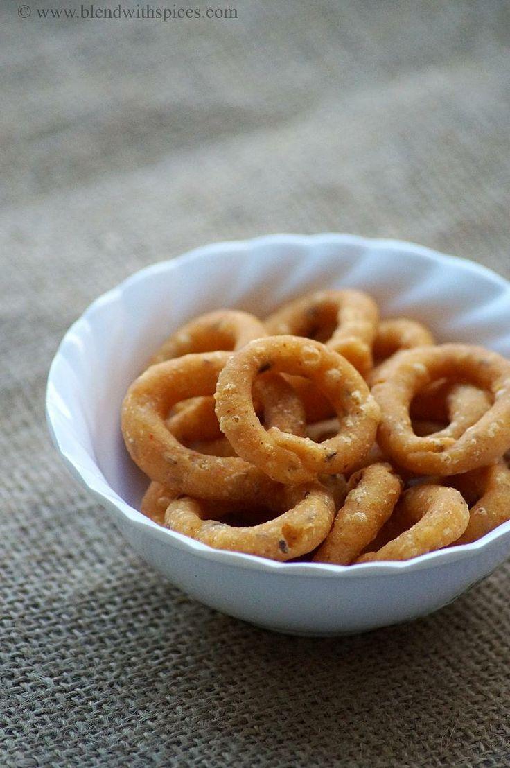 Chegodilu Recipe - A Traditional Andhra Savory Snack - Diwali Snacks Recipes   Indian Cuisine