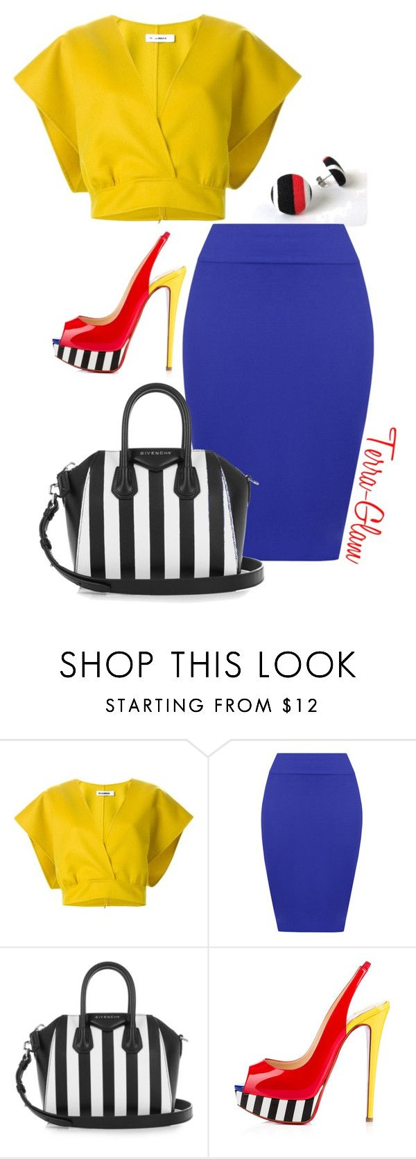"""""""Lavish Lawyers"""" by terra-glam ❤ liked on Polyvore featuring Jil Sander, WearAll, Givenchy and Christian Louboutin"""