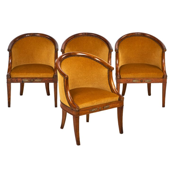 Empire Style French Antique Barrel Chairs