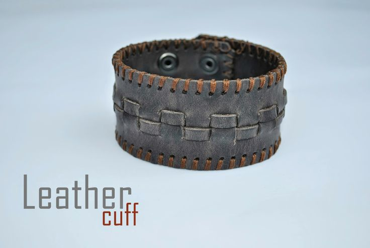 Vintage Genuine Leather Cuff Bracelet, in stoc now! Order at: cureledeceas@gmail.com, +40 737 472 022