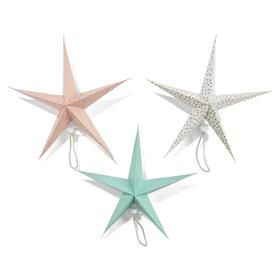 Star Decoration - Pastel, 3 Pack
