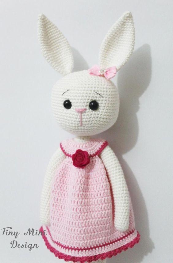 Conejita Amigurumi - Patrón Gratis en Español | Conejo | Pinterest ...