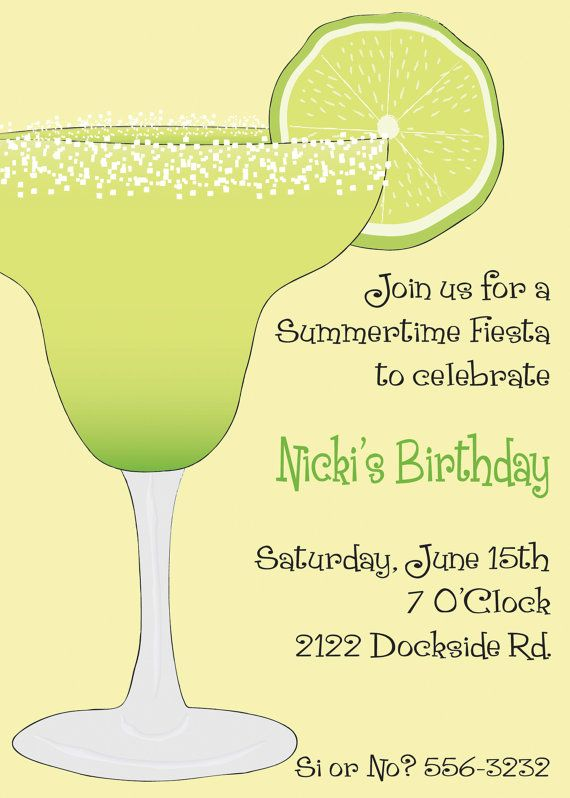 Mexican Fiesta Margarita Party  Invitation  by mycharmingprints, $0.85