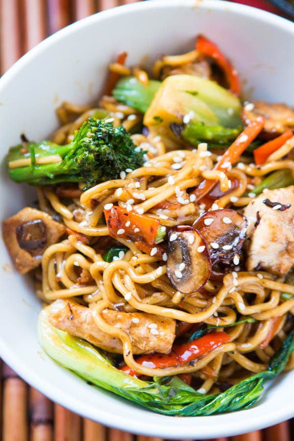 Quick and Easy 15 Minute Chicken Stir Fry via @ohsweetbasil
