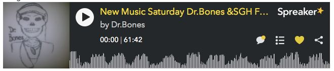 Big Thanks to Dr. Bones, Forgotten Bee & Dave of GrassCutterUK for welcoming us back on New Music Saturday #NMS this weekend. Cheers! http://www.spreaker.com/user/4524520/new-music-saturday-dr-bones-sgh-forgotte