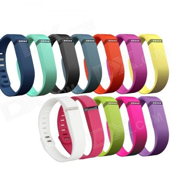 Large Wrist Band w/ Clasp for Fitbit Flex Smart Bracelet - Deep Blue