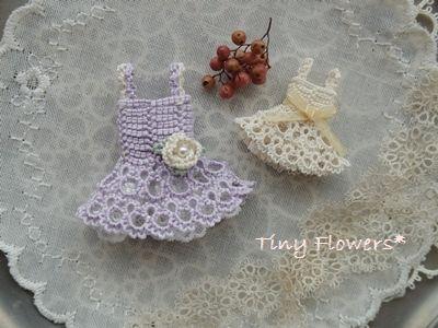 ちいさなドレス 作り方のポイント | Tiny Flowers* にゃんことてしごと ~猫とタティングレース~