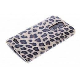 Bruin luipaard design hardcase hoesje voor de LG L Bello / L80 Plus