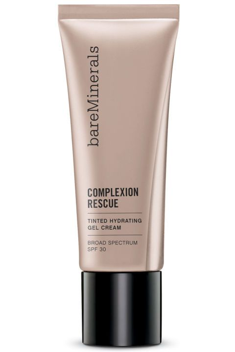WHAT IT IS: bareMinerals Complexion Rescue Tinted Highlighting Gel Cream WHY WE LOVE IT: Some tinted moisturizers contain a single hydrating ingredient. This lightweight emulsion contains a whole cocktail (squalane, marine botanicals, trehalose, and glycerin if you want to get specific.) Sweep one of the ten shades on with a brush—the result is glowy coverage that's also a powerful and non-irritating mineral-based SPF. Bare Escentuals tinted moisturizer, $29, bareescentuals.com.
