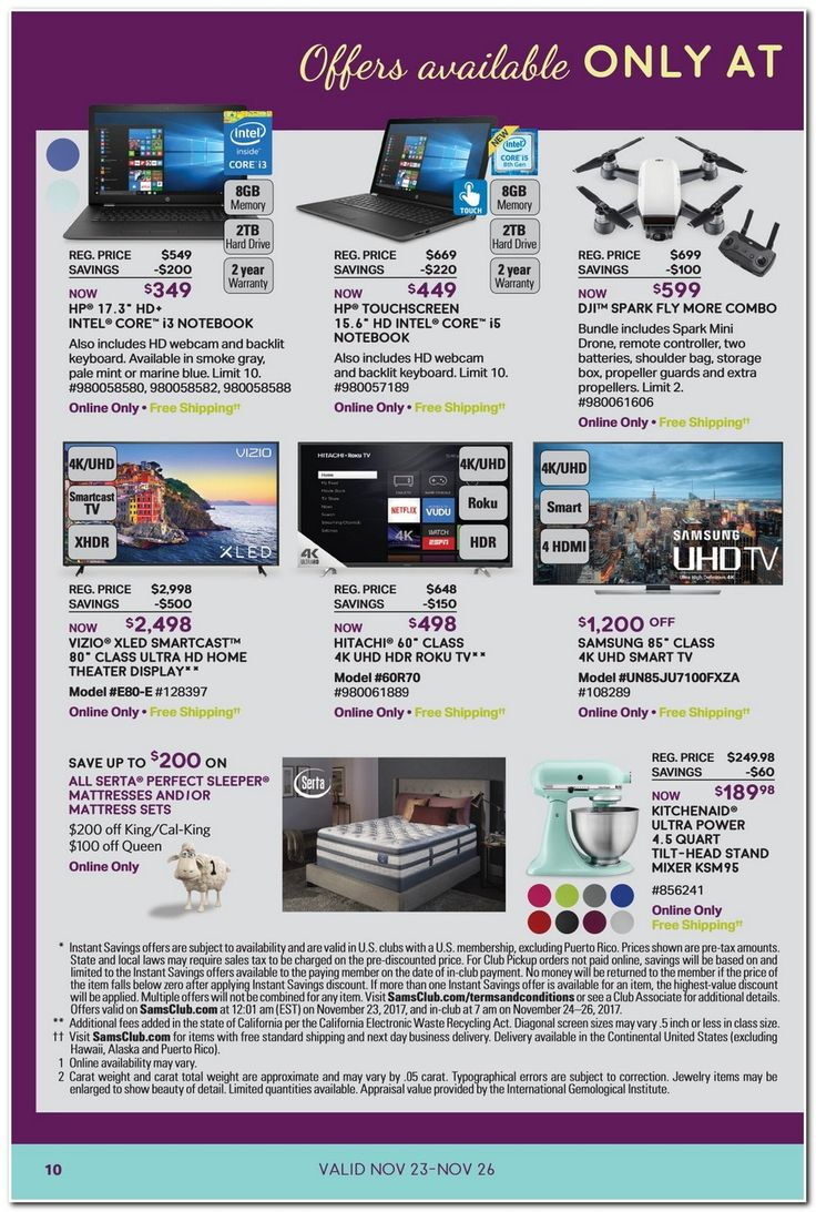 Sam's Club Black Friday 2017 Ads and Deals Check out the official Sams Club Black Friday ad 2017 here to find out what's going on sale this year, plus find hundreds of Black Friday deals, sales... #samsclub #samsclubblackfriday #samsclubblackfriday2017 #blackfriday #blackfriday2017