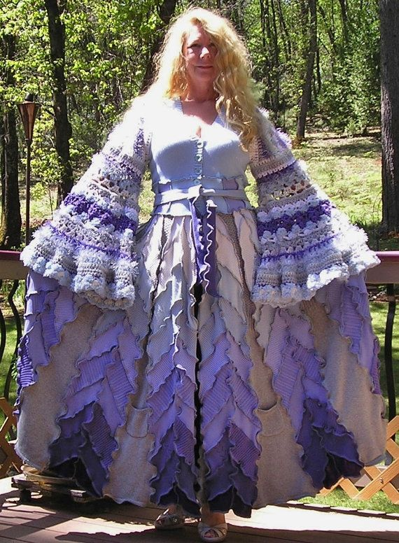 Recycled Sweater Coat,  Sale, Stevie Nicks,  Molly Weasley, Bohemian,  Elfin , Renaissance Faire,  Gypsy Coat, Ready to ship
