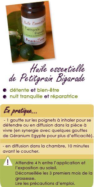 Huile essentielle de Petitgrain bigarade : détente et bien-être, nuit tranquille et réparatrice.