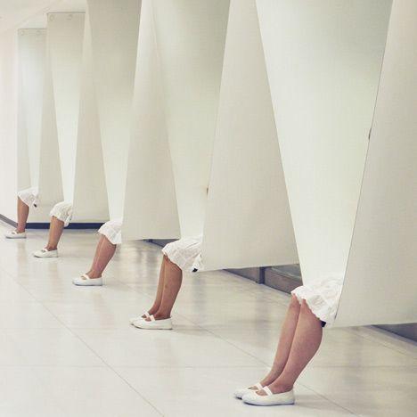 Dezeen » Blog Archive » Bench Between Pillars by Ryuji Nakamura Architects