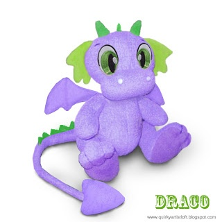 Quirky Artist Loft: Free Pattern: Draco The Dragon