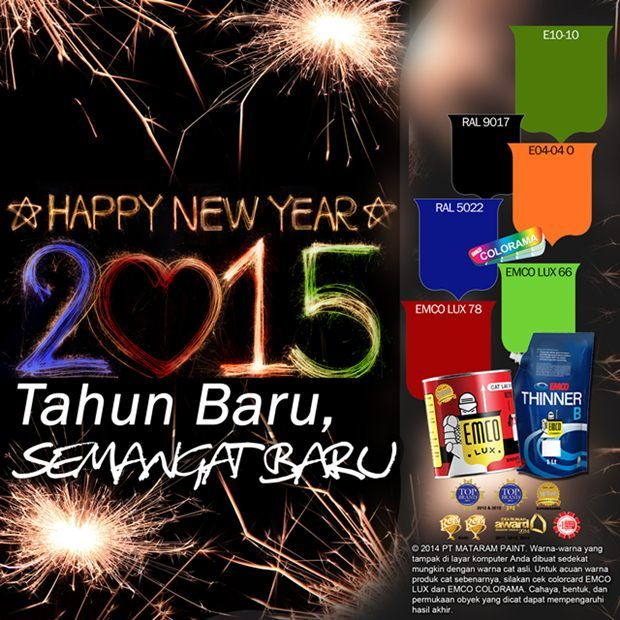 Tahun Baru, Semangat Baru #Future #Color #EMCOPaint http://www.matarampaint.com/detailNews.php?n=300