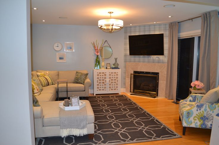 A fresh family room in Windsor completed by our interior design team
