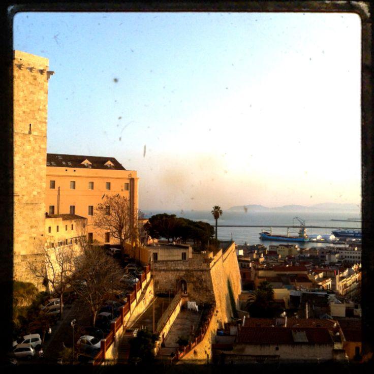 #Sunset from Bastione Santa Croce, #Cagliari chief town of #Sardinia island, #Italy