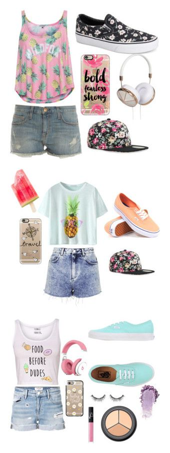 """""""Summer Love"""" by cami-garcia-2 on Polyvore featuring Wildfox, Current/Elliott, Vans, Casetify, Frends, Alex and Chloe, Topshop, Frame Denim, NARS Cosmetics and H&M"""