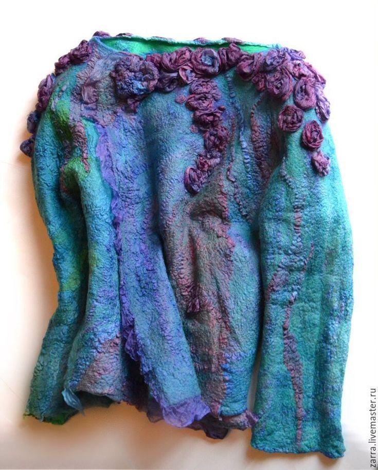 """Купить Жакет валяный """" Carribean blue"""" - валяный жакет, жакет женский, жакет валяный"""