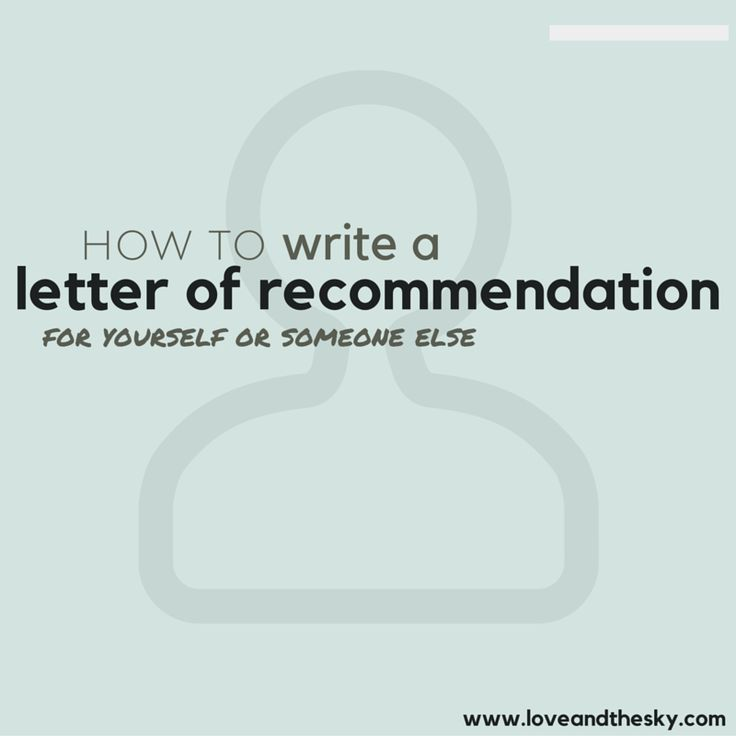 17 Best images about Letters of Recommendation
