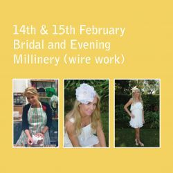 Workshops | Serena Lindeman Millinery, this bridal session is an opportunity to learn how to make an elegant bridal headpiece and learn to make both a birdcage and a bridal veil.