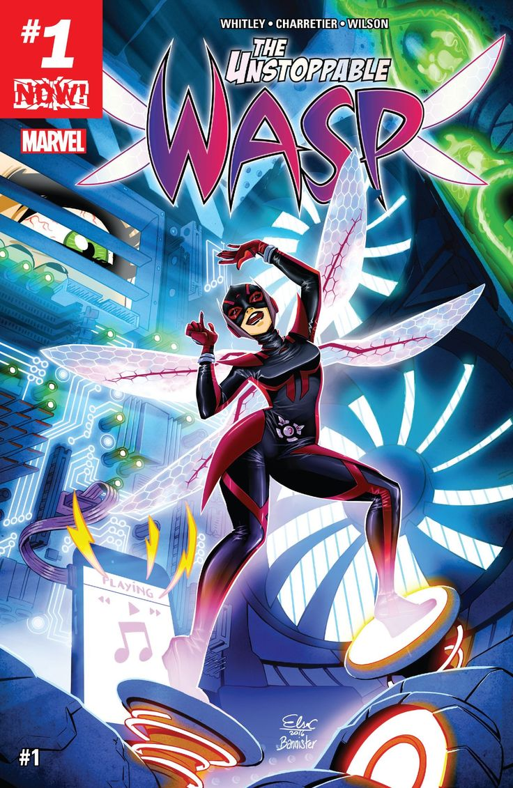The Unstoppable Wasp (2017) #1 #Marvel @marvel @marvelofficial #UnstoppableWasp (Cover Artist: Elsa Charretier) Release Date: 1/4/2017
