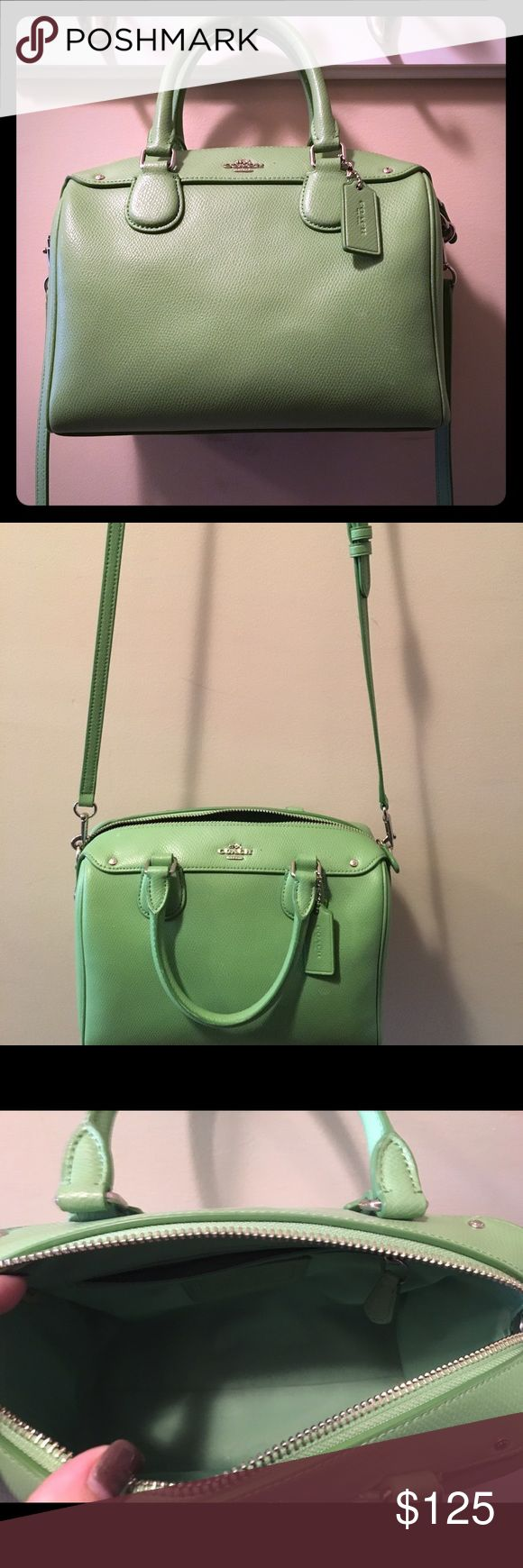"Coach handbag like new. Authentic Coach handbag in green color named ""pistachio"". Excellent condition. Only used a few times but lots of compliments. Just downsizing my collection. Coach Bags Crossbody Bags"