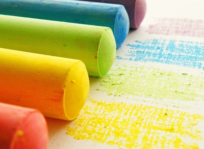 ¿Qué sería un cole sin tizas de colores? ;-)