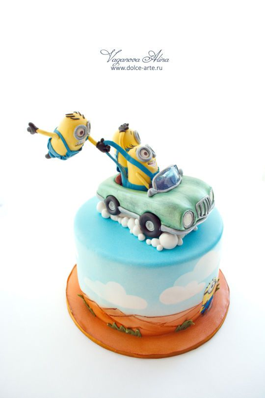minions cake - Cake by Alina Vaganova - For all your cake decorating supplies, please visit craftcompany.co.uk