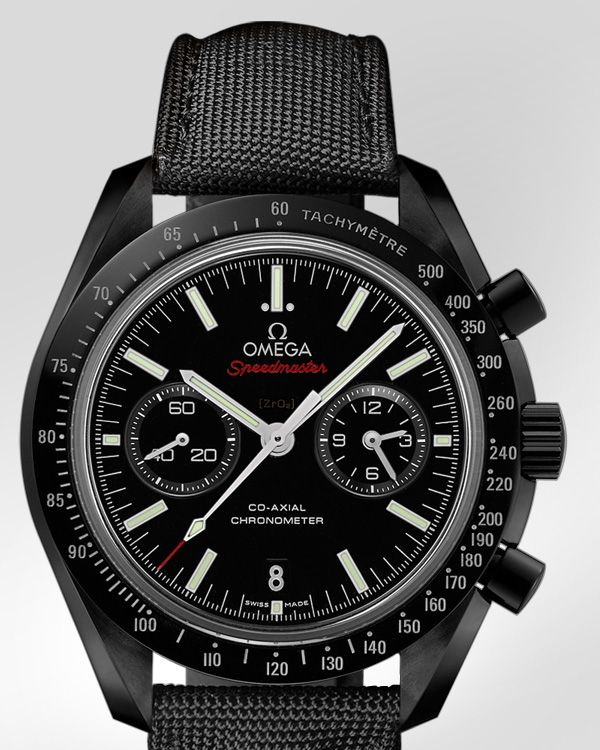 OMEGA Watches: Speedmaster Moonwatch Omega Co-Axial Chronograph 44.25 mm - Black ceramic on coated nylon fabric - 311.92.44.51.01.003