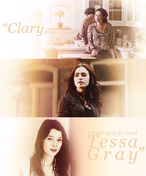 """Clary,"" Jocelyn said. ""I want you to meet Tessa Gray."" - City of Heavenly Fire snippet [gif] @Kayla Smith"