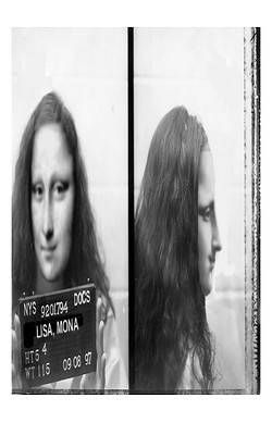 Mona Lisa's Mugshot by Monut-- Mona Lisa Parodies #Joconde