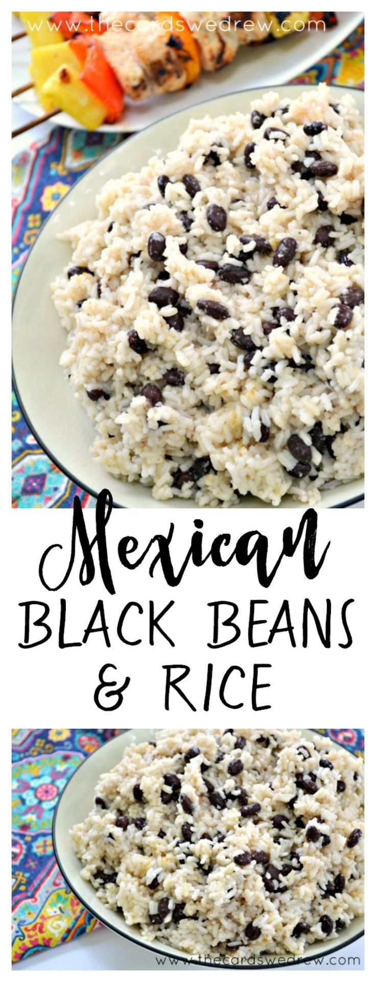 Easy recipe for Mexican Black Beans and Rice from The Cards We Drew