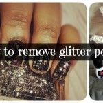 #NailTip: How To Remove Glitter Polish
