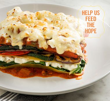 Indian Inspired Vegetarian Lasagne | For every Facebook share or download of our Pasta to the Rescue cookbook or its recipes, we're donating portions of pasta to food banks across Canada. Visit https://www.catelli.ca/en/feed-the-hope/ to learn more.