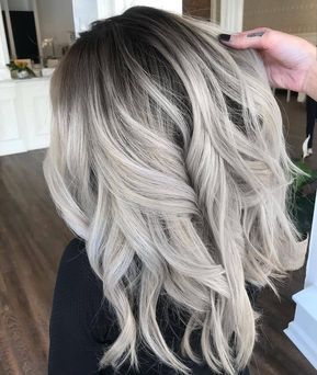 Balayage ombre shadowroot grey hair color from balayageombre