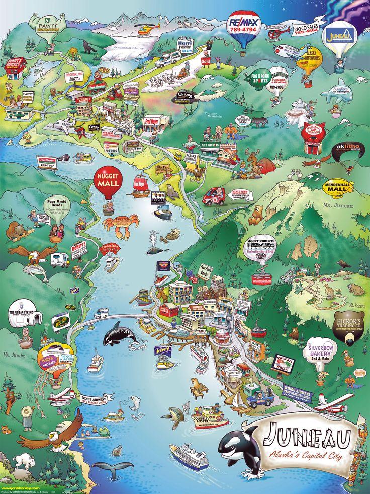 Pin by Emily Williams on Juneau Alaska Pinterest Juneau alaska - best of world map with alaska and hawaii