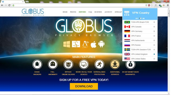 How Globus VPN Browser works : Privacybrowser.org : Privacybrowser.org