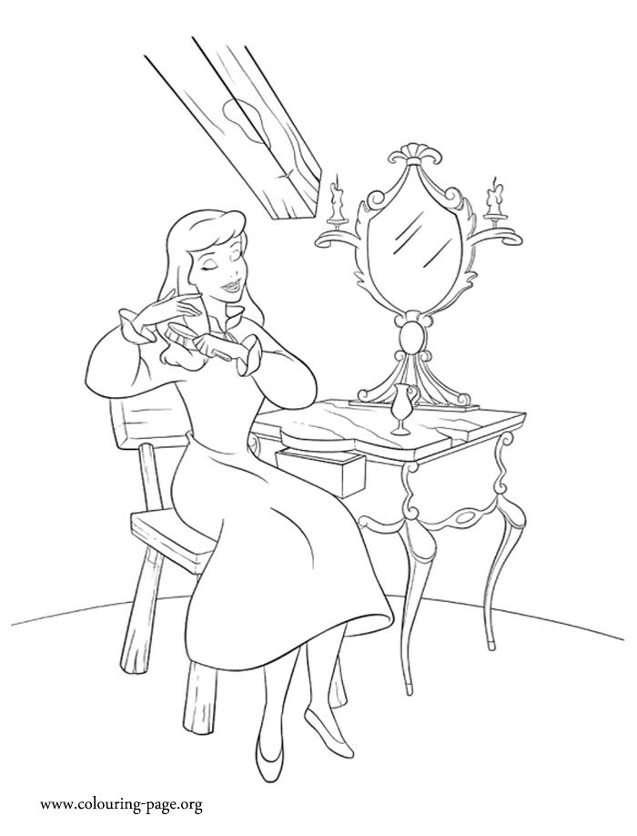 brushing hair coloring pages - photo#5