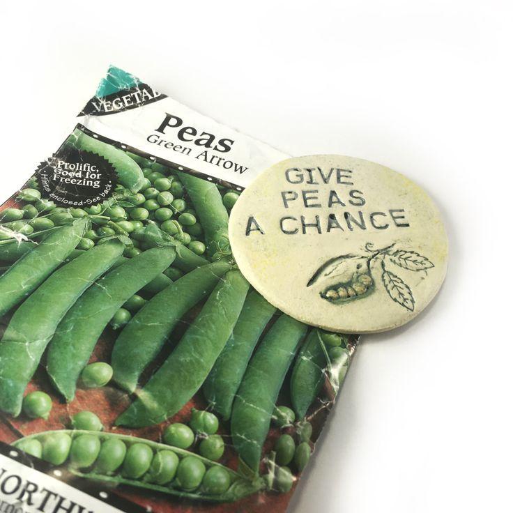 Fridge Magnet. Ceramic Magnet. Gardeners Magnet. Funny Kitchen Magnet. Pea Haters Gift. Gift for Mom. Handmade Clay Magnet. Beatles Magnet. by FaeGartenClay on Etsy