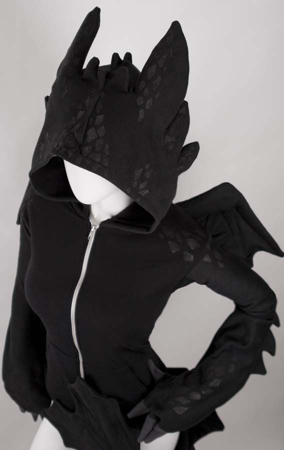 Cute Dragon Hoodie This links you to the site that actually sells the Toothless hoodie. It also comes in rainbow! Very expensive, though. Normally $399.99 CAD ($368.99 USD), currently $499.99 ($462.25 USD) since they're in high demand.