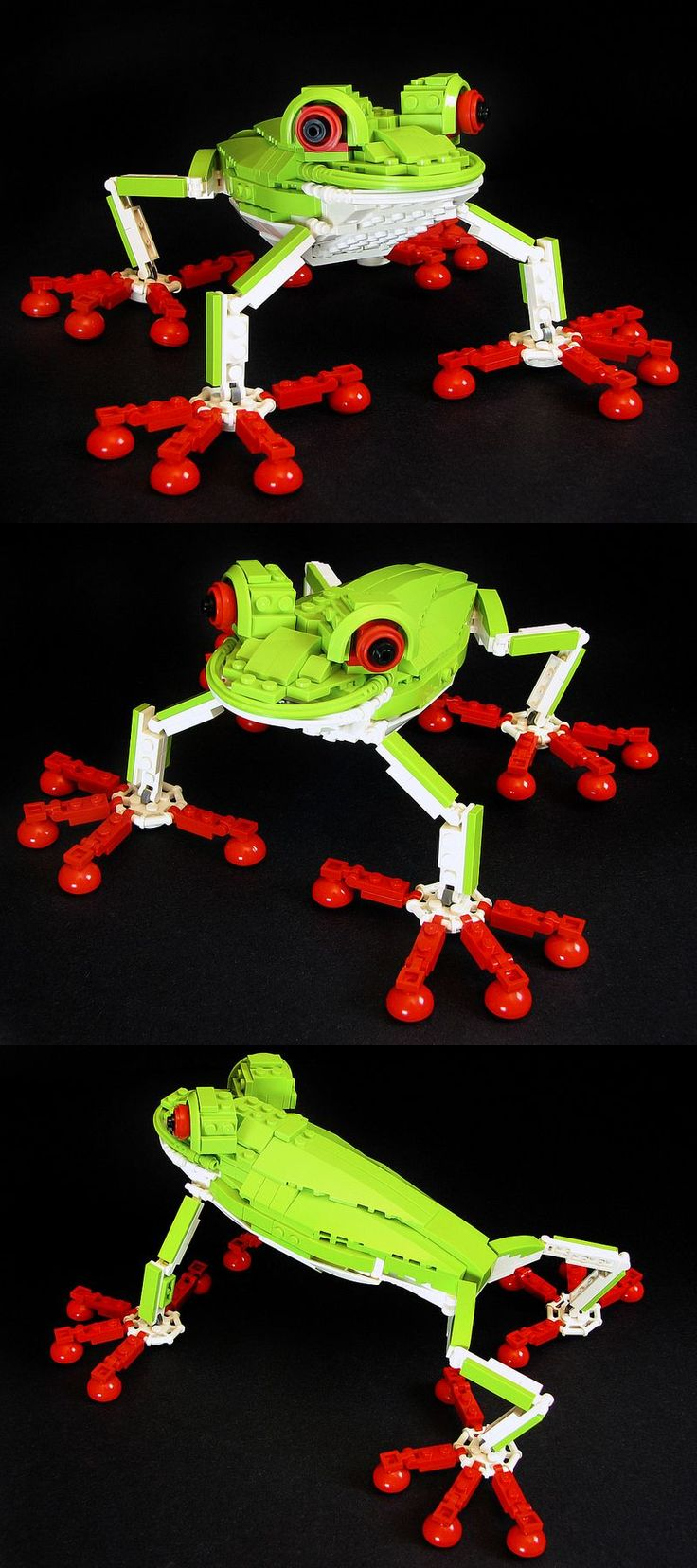 #LEGO Red-eyed Tree Frog.  He is awesome! Its lego but I would uae it as a coffie table sculpture- hence the art board