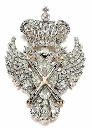 russian eagle brooch, worn by catherine II