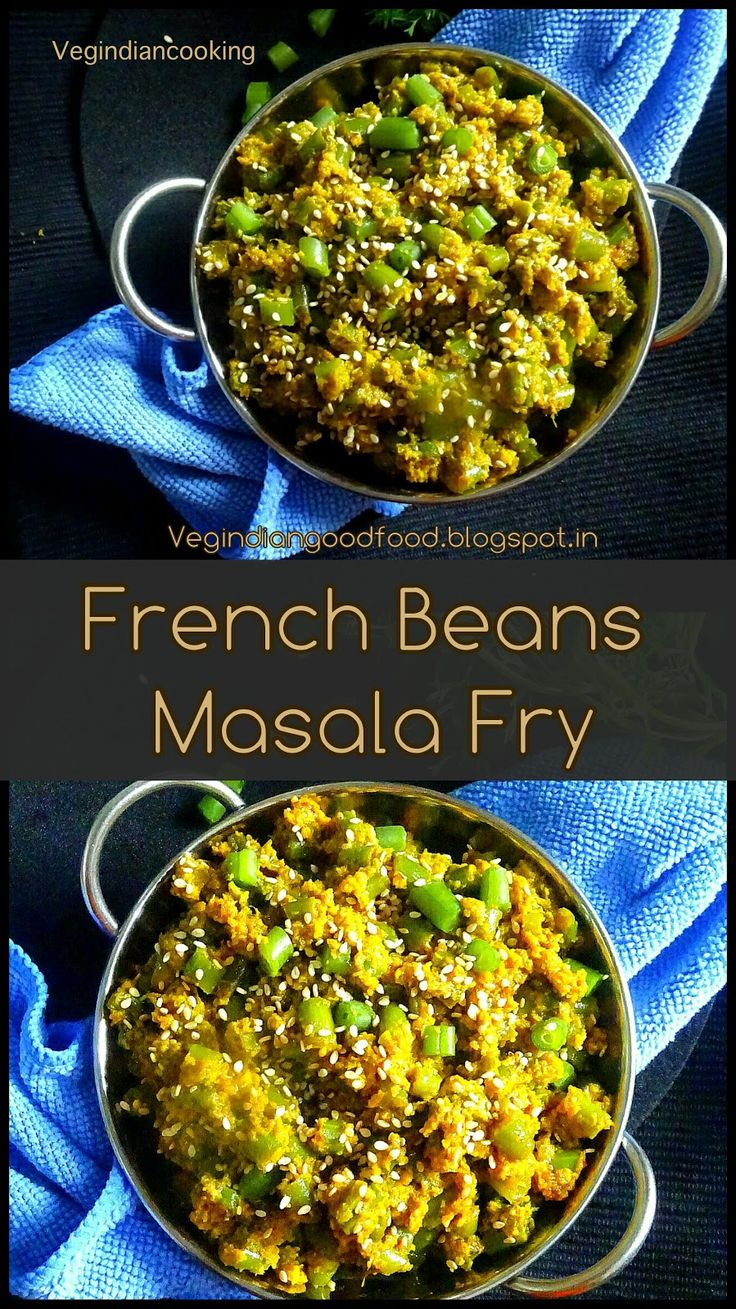 Veg Indian Cooking: French Beans Masala Fry