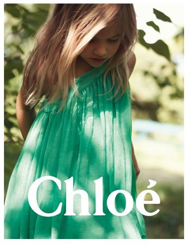 Delphine Chanet - CHLOE Kids Campaign SS12