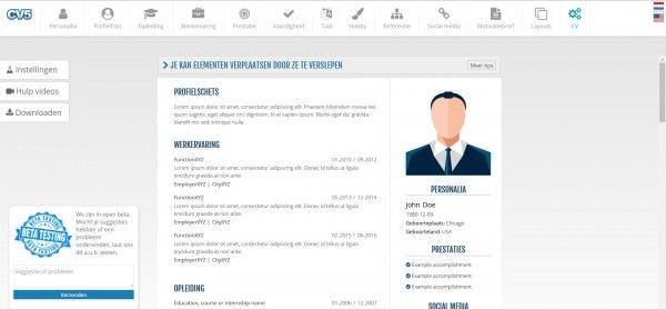 Online CV-maker vergroot de kans op een baan - Persbericht.nu