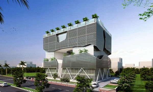 Lucknow Headquarters is a Sustainable Building with Passive Systems, designed by Annkit kummar of the Lucknow Industrial Development Authority (LIDA).