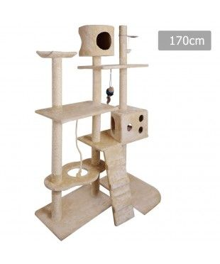 Large Cat Tree Scratching Post - Beige