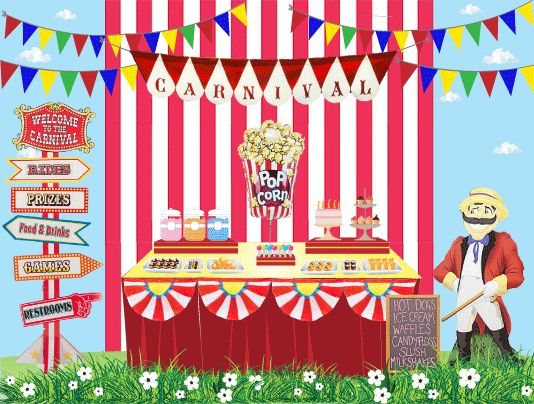 Carnival Theme Invitations as Beautiful Sample To Make Amazing Invitations Sample